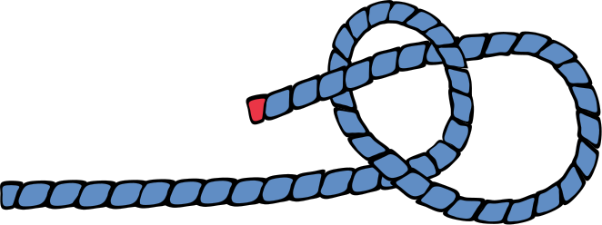 eoceanic the single most important sailing knot to learn, the bowlineallow for the size of the loop and the knot itself and form a small loop in the line then bring the bitter end up to and through the eye from the